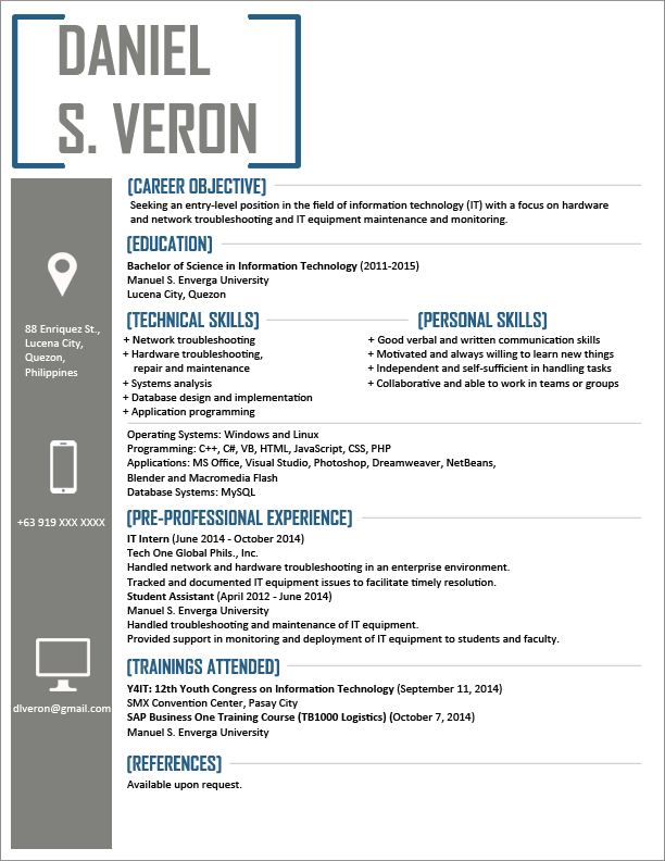 It Resume Samples | Sample Resumes and Resume Tips